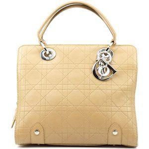 Auth Christian Dior Lady Dior Hand Bag #4067C31